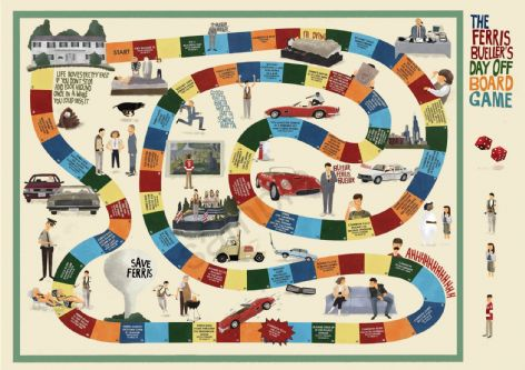 Ferris Bueller's Day Off Board Game Poster